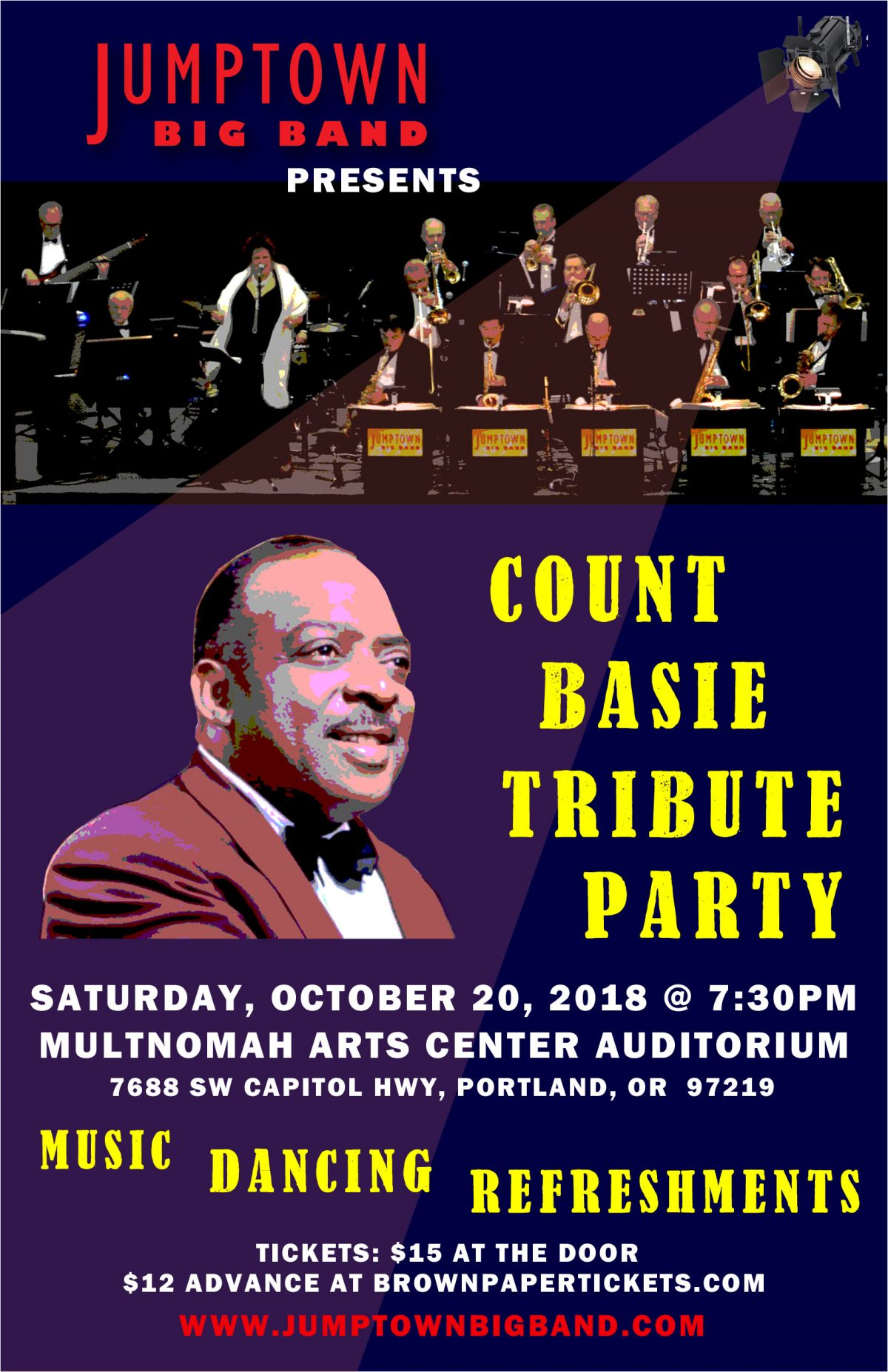 October 20, 2018 – Count Basie Tribute Party
