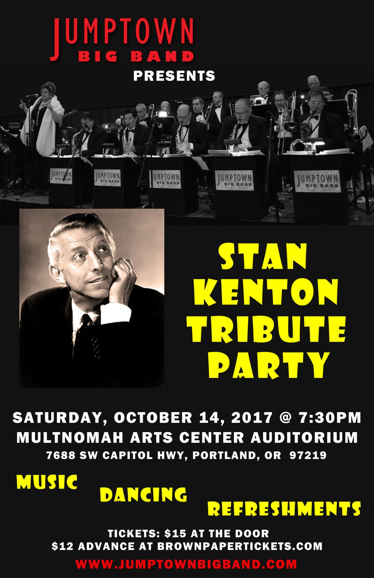 October 14, 2017 – Stan Kenton Tribute Party